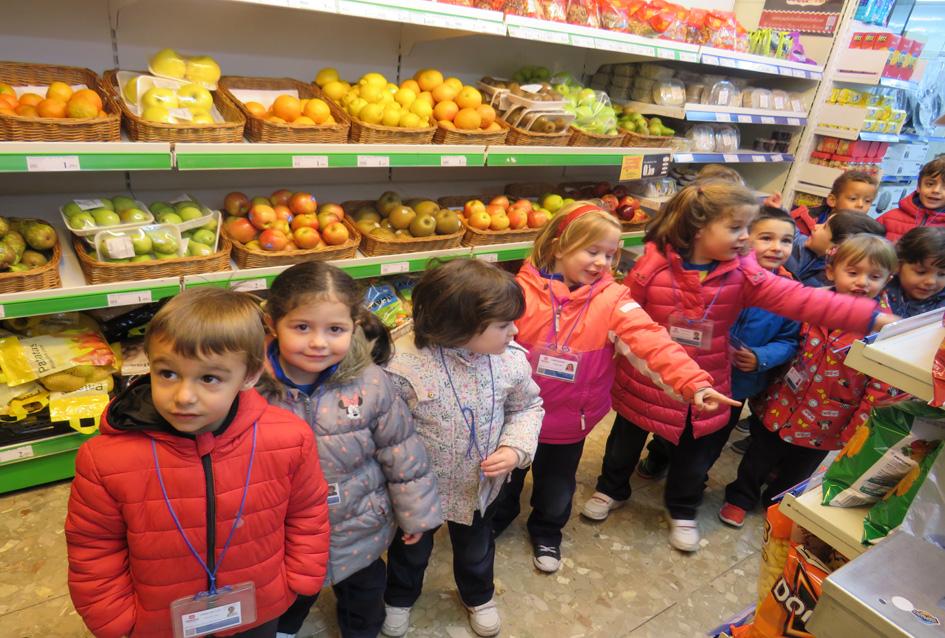 INFANTIL 4 AÑOS: Visita un supermercado en Soto del Real.