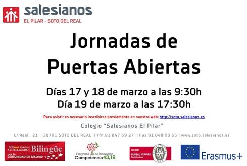 Jornadas de Puertas Abiertas los días 17,18 y 19 de Marzo.