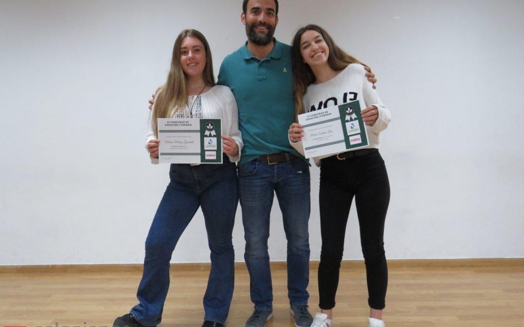 Curso 2018-2019: Alumnas de 4ºESO ganadoras del VI Concurso de Creación Literaria organizado por Salesianas Plaza de Castilla.