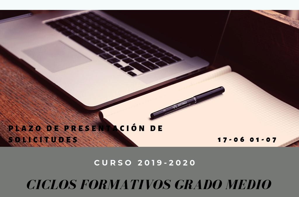 ADMISIÓN C.F. GRADO MEDIO CURSO 2019-2020