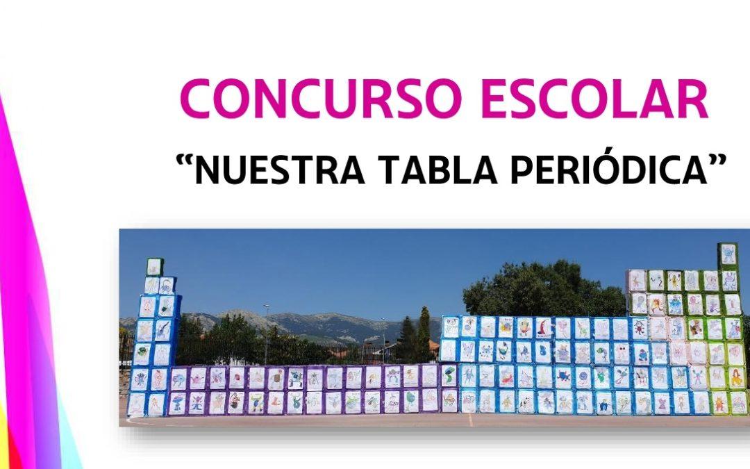 Mención al reconocimiento por realizar una tabla periódica gigante con los alumnos de 3º de la ESO